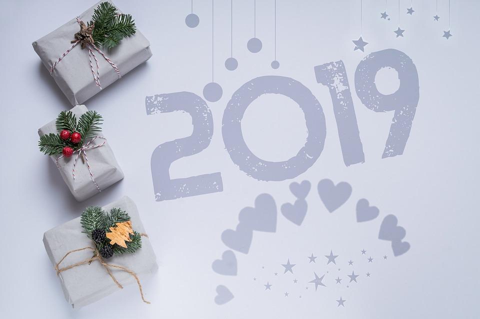 открытка с новым 2019 годом